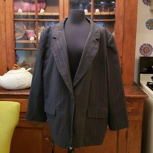 Harve Benard Wool Pin Striped Blazer